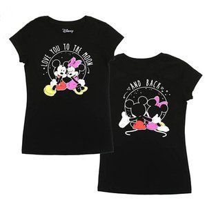 Mickey/Minnie. Front/Back Print. Love to the Moon!